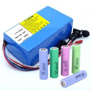 Lítiová batéria 18650 48 V 12AH 48 V 500 W Elektrická bicyklová batéria s BMS