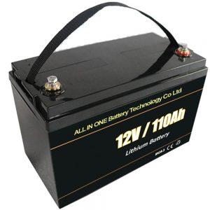 Olovená náhradná solárna akumulačná batéria lítiová batéria 12V 110Ah lifepo4