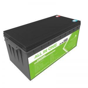 Nabíjateľná záložná energia s dlhou životnosťou 12,8 V 200 Ah LiFePO4 batéria pre golfový vozík