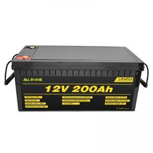 Prispôsobiteľné elektrické auto 12V Lifepo4 batéria 12,8v 200ah s životnosťou 2000 cyklov lifepo4 batéria