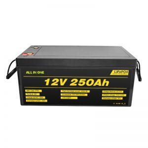 Najobľúbenejšie najlepšie batérie solárneho systému Balenie lítium-iónová batéria LiFePO4 12V 250 Ah