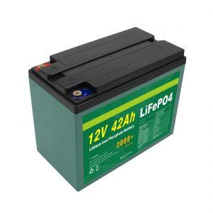 Prispôsobená solárna batéria 12V 12ah 40ah 42ah Lifepo4 Cell Lifepo4 s batériou BMS