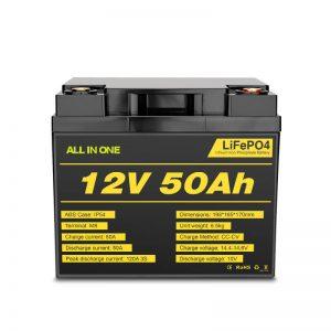 Nabíjateľná batéria Lifepo4 s hlbokým cyklom 12V 50 Ah pre elektrický systém