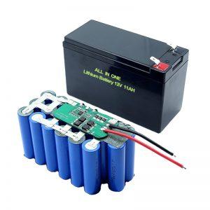 ALL IN ONE 18650 3S5P 12Voltová lítiová batéria 11Ah nabíjateľná lítiová batéria