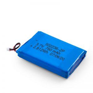 Nabíjateľná batéria LiPO 502236 3,7 V 380 mAH / 3,7 V 760 mAH / 7,4 V 380 mAH