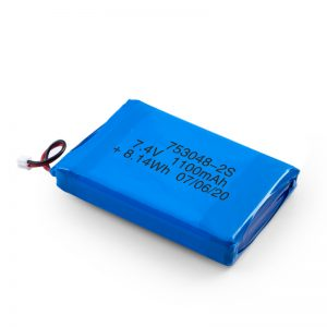 Nabíjateľná batéria LiPO 753048 3,7 V 1100 mAh / 7,4 V 1100 mAh / 3,7 V 2200 mAh
