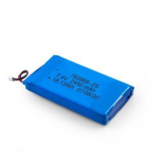 Nabíjateľná batéria LiPO 783968 3,7 V 4900 mAh / 7,4 V 2450 mAh / 3,7 V 2450 mAh /